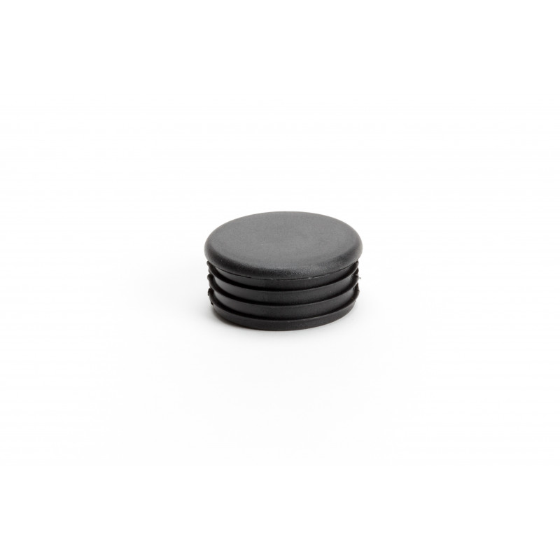 Cover cap Ø50/4mm, plastic, hammered, black