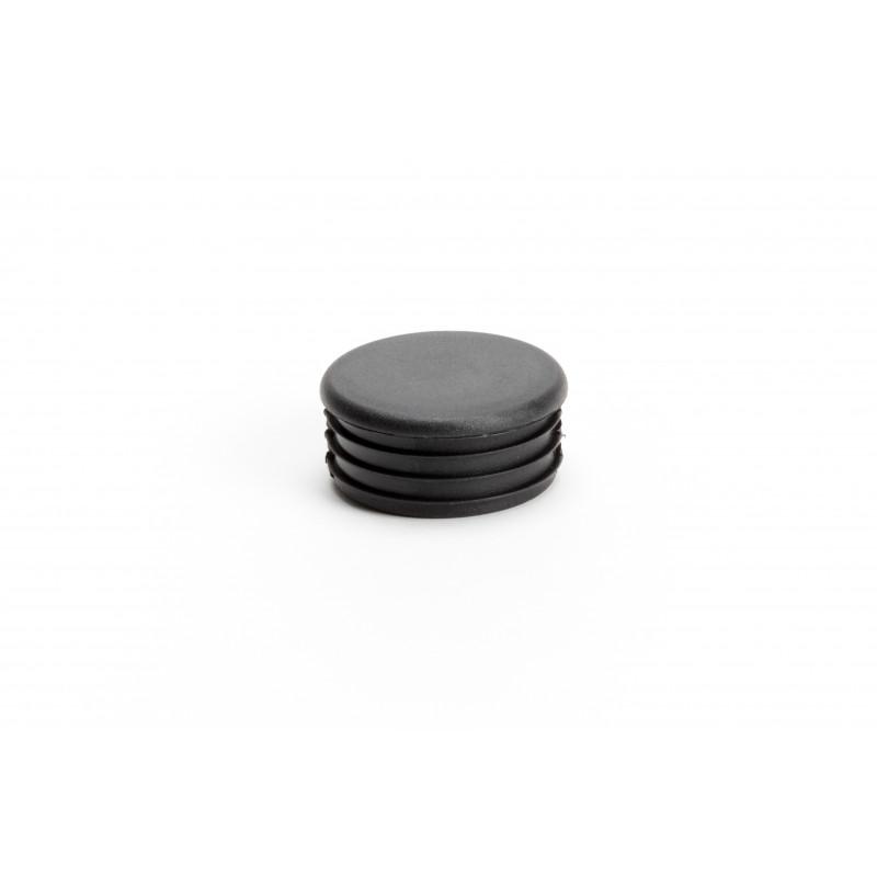 Dangtelis Ø50/4mm, plastikinis, įkalamas, juodas