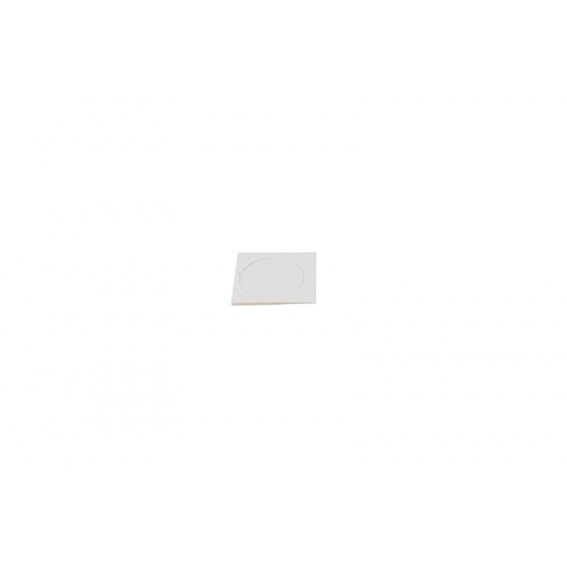 Cover cap Ø17.4mm, adhesive, white