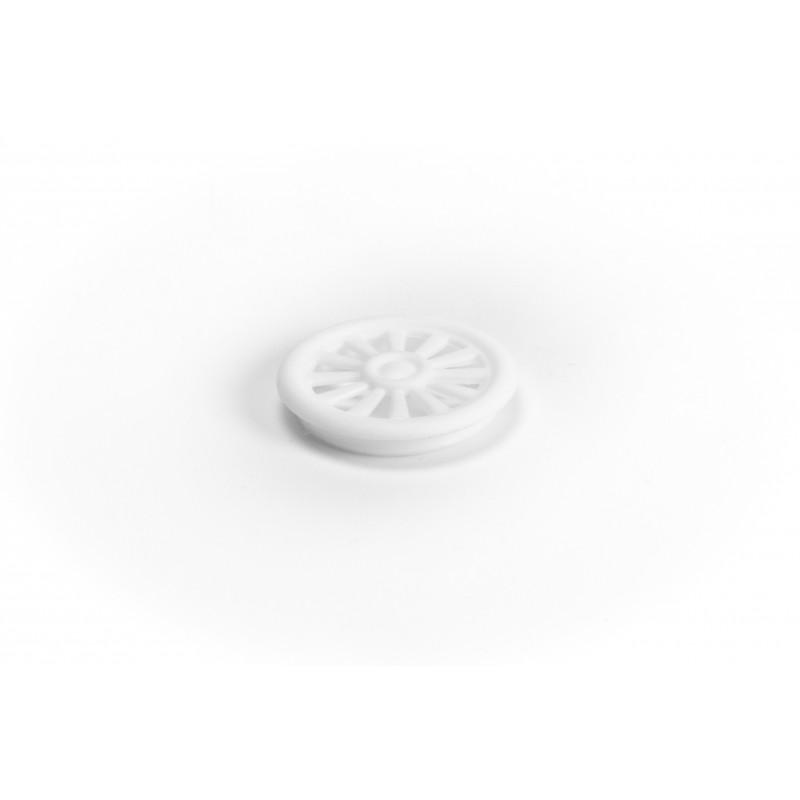 Cover cap Ø46,5/8,7mm, plastic, white, for ventilation
