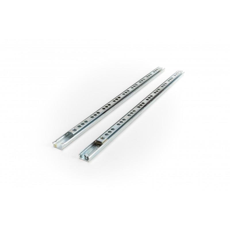 Slide ball bearing 17x345mm, single extension, white