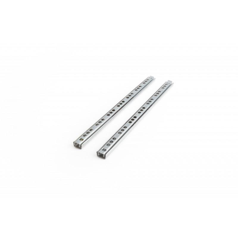 Slide ball bearing 17x246mm, single extension, white