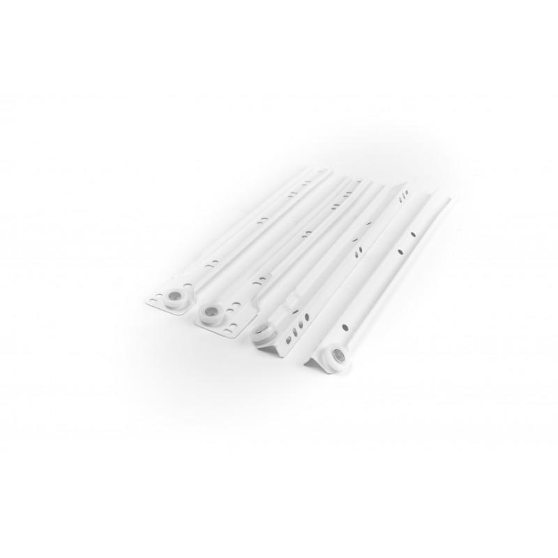 Slide roller L=300mm, single extension, white