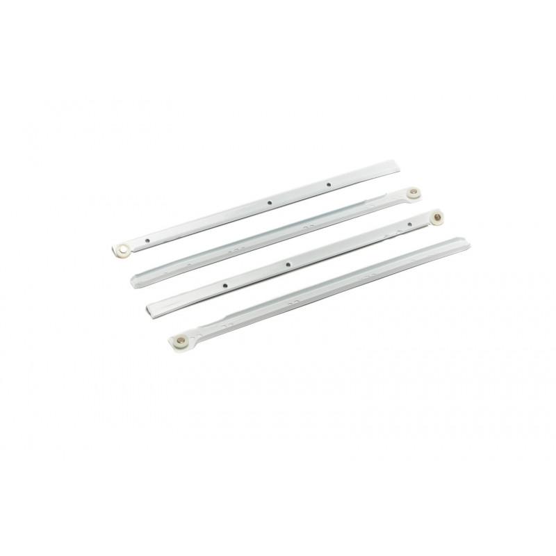 Slide roller L=400mm, single extension, white