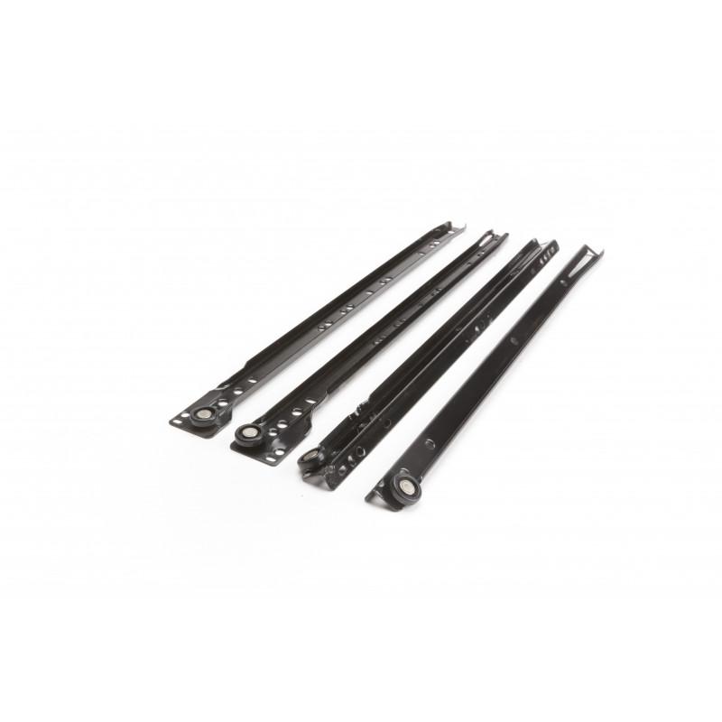 Bėgeliai ritininiai, L=400mm dalinio ištraukimo, juodi