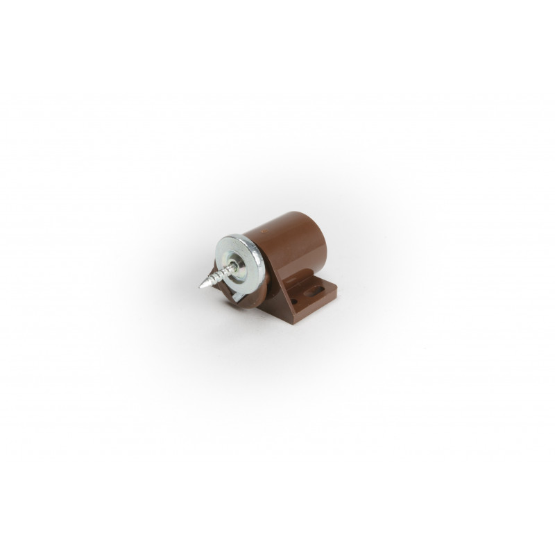 Magnet catch 3kg brown round, plate with nail