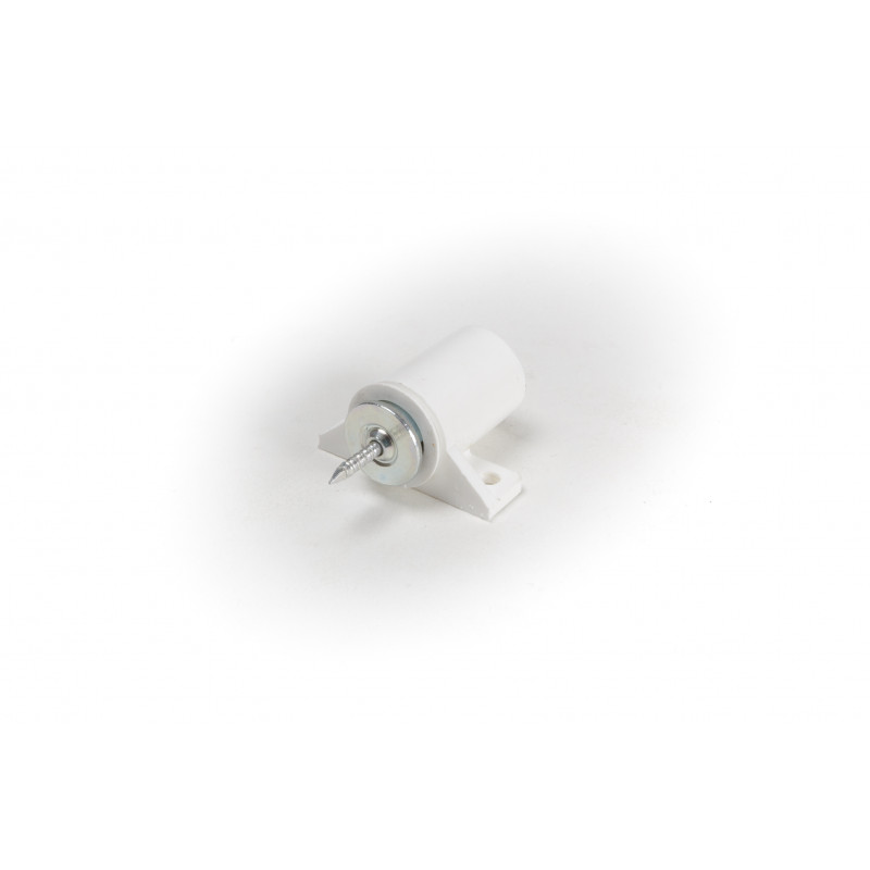 Magnetukas 4kg baltas apvalus, plokštelė su vinuku