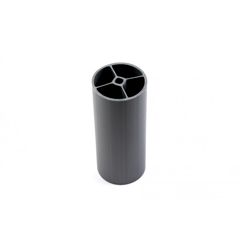 Support- tube Ø40x95mm, plastic, grey