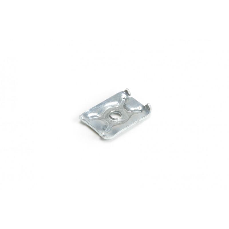Rear panel holder 19x14x3,5mm, white zinc