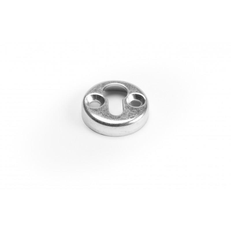 Support, round, Ø30x7mm, steel, white zinc