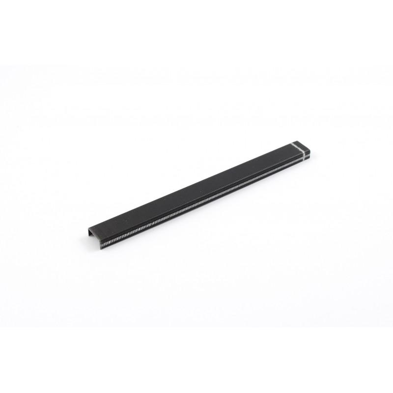 Kabės H-6mm, L-13mm, 0,7x0,95mm, plieninės, juodos,...