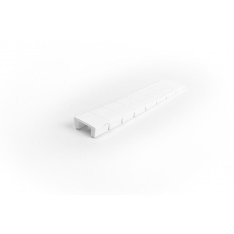 Wedge L-100mm, plastic, breakable, white