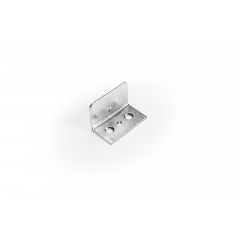Angle 30x20x17mm nickel plated white for cam lock