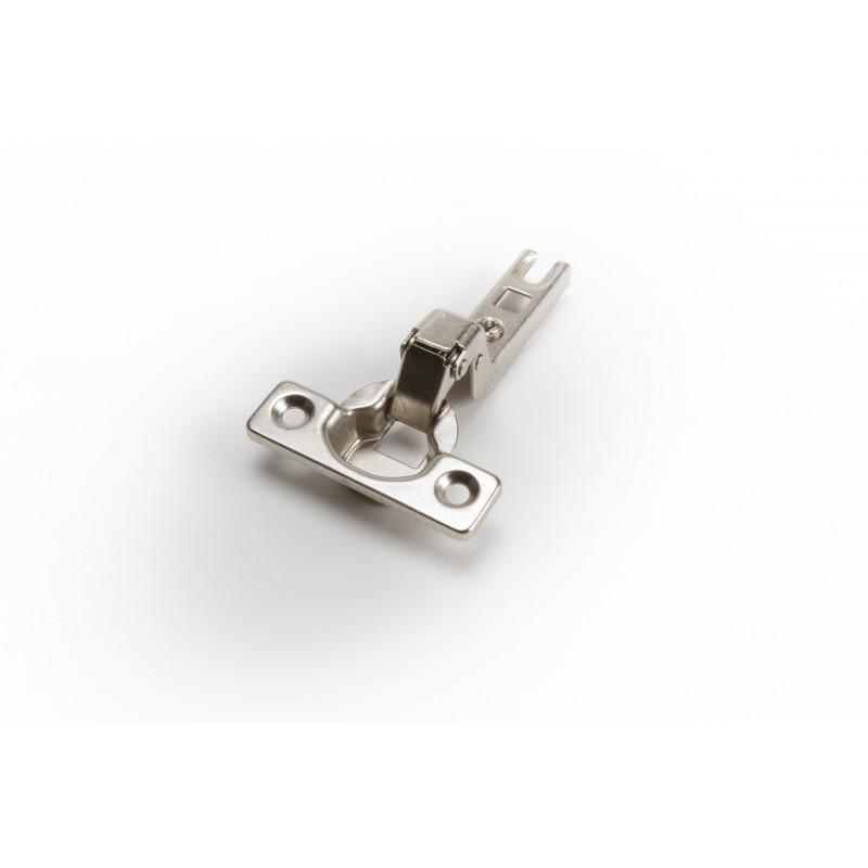 Hinge Ø26mm, insert, nickel, slide on
