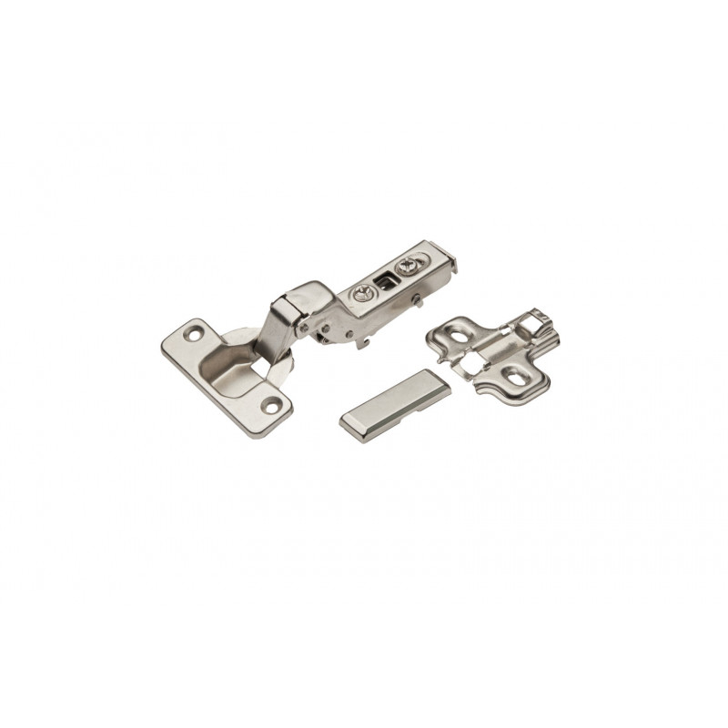 Hinge Ø35mm, insert, nickel, soft close, with plate and...