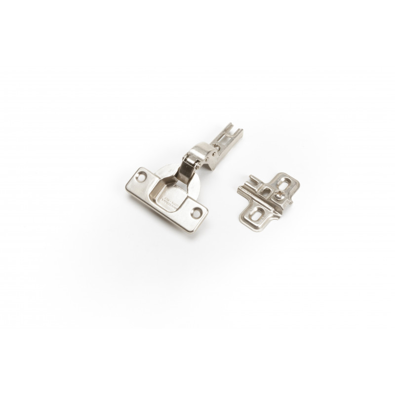 Hinge Ø35mm, insert, nickel, with plate without screws,...