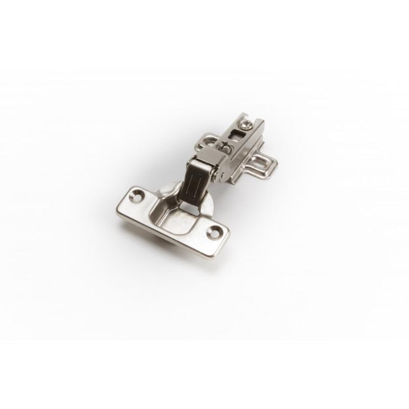 Durelių lankstas Ø35mm, pusinis, nikelis, su plokštele...