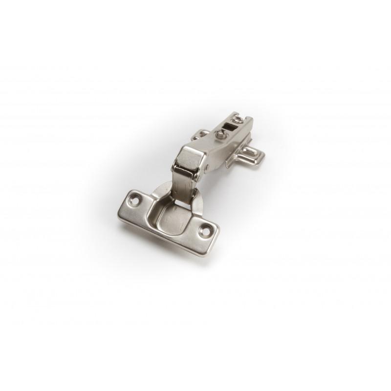 Durelių lankstas Ø35mm, 45° nikelis, su plokštele be...