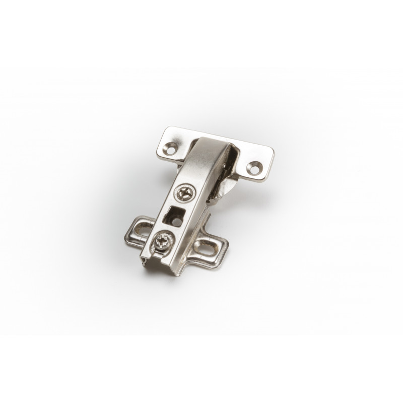 Hinge Ø35mm, 90 degree, nickel, with plate without...