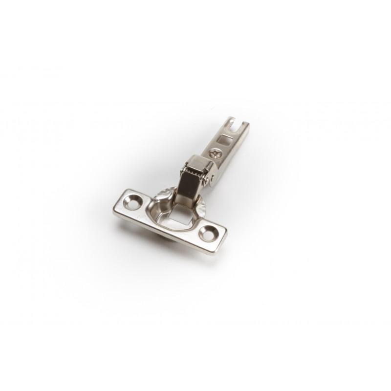 Hinge Ø35mm, half overlay, nickel, slide on, B-type