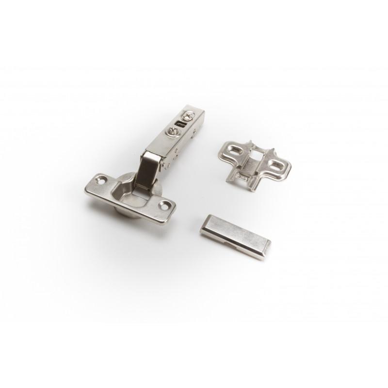 Durelių lankstas Ø35mm, išorinis, nikelis, švelnaus...