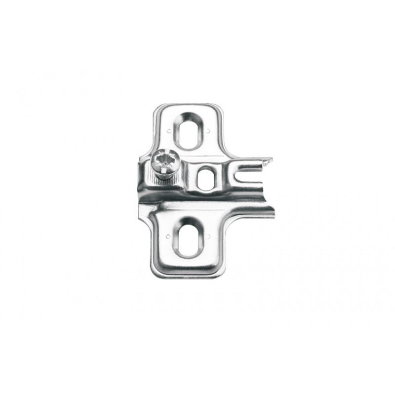Mounting plate Ø26mm, H-1,5mm, nickel with euro screws