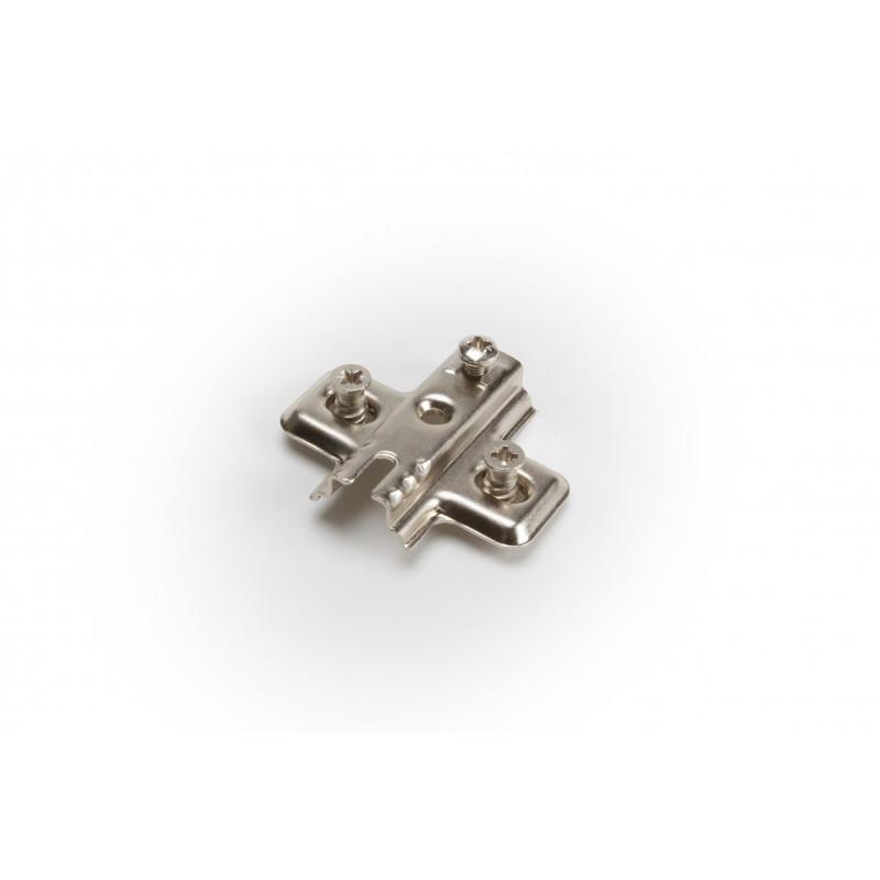 Tvirtinimo plokštelė Ø35mm, H-0mm, nikelis su euro...