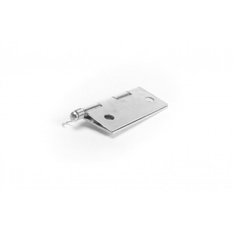 Hinge 40x45mm, with a spring, zinc plated, white