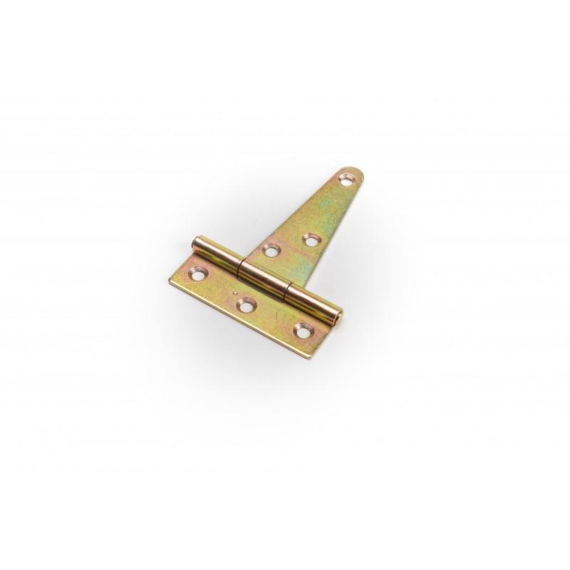 Hinge 75x63x25mm, zinc plated, T-shape yellow