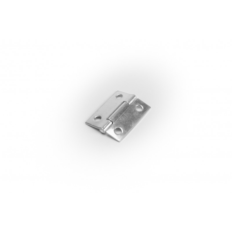 Hinge 37.5x28.5mm, white zinc plated