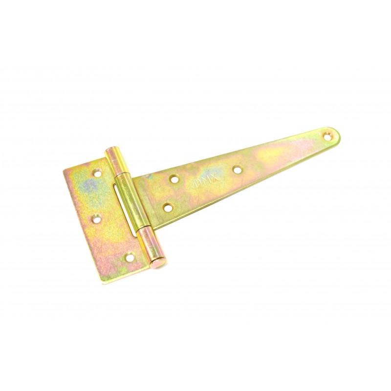 Hinge 150x35x80x2,0mm, zinc plated, T-shape yellow