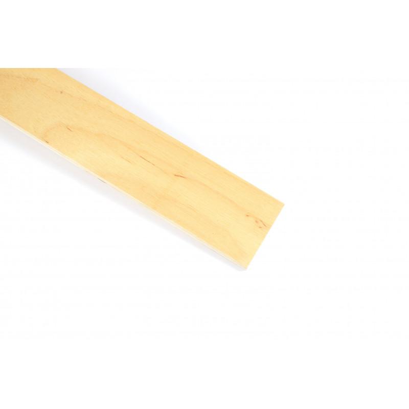 Slat 594x52x8mm, lacquered, birch, 14 pcs/pack