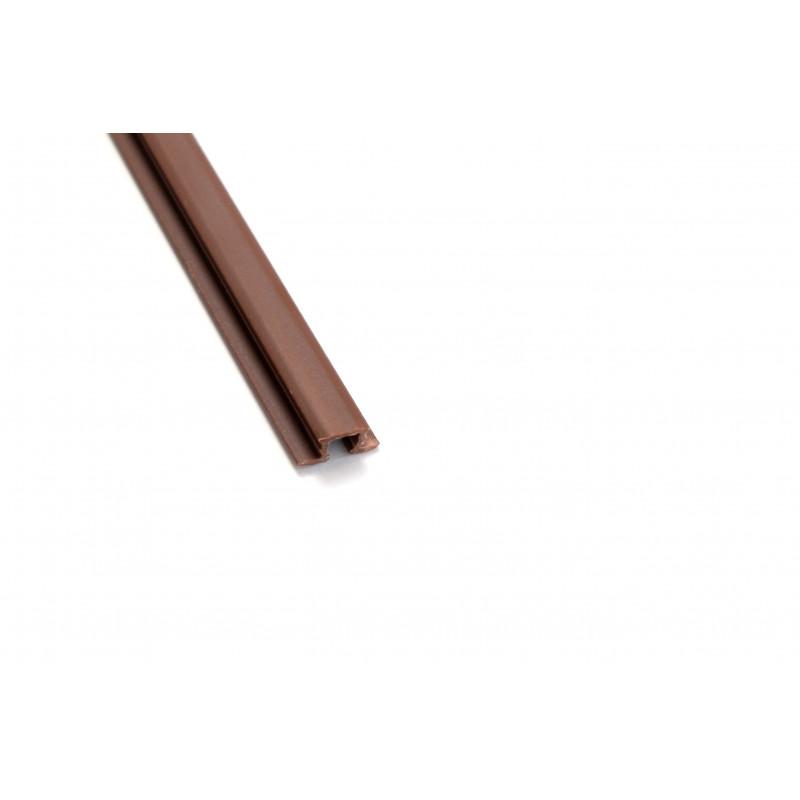 Profilis 3,6x2500mm plastikinis rudas