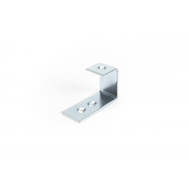 Hook 40x24x15x1,5, galvanized, white