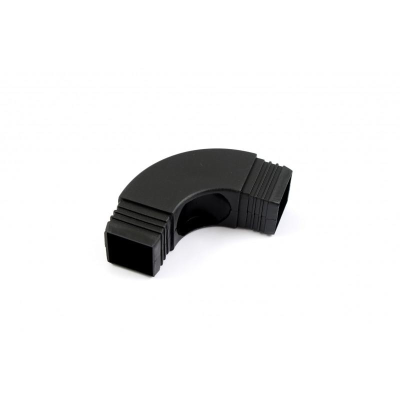 Kampas 73x73x(30x30)mm, juodas plastikinis, lovos rėmo...