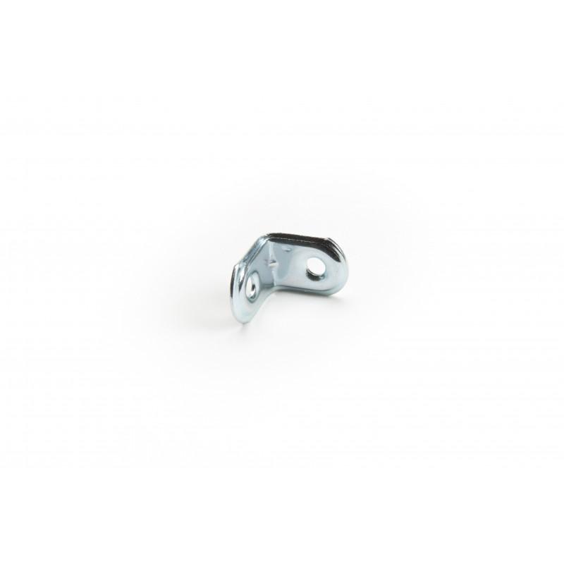 Angle 16x20x20x1,2 mm, galvanized, white
