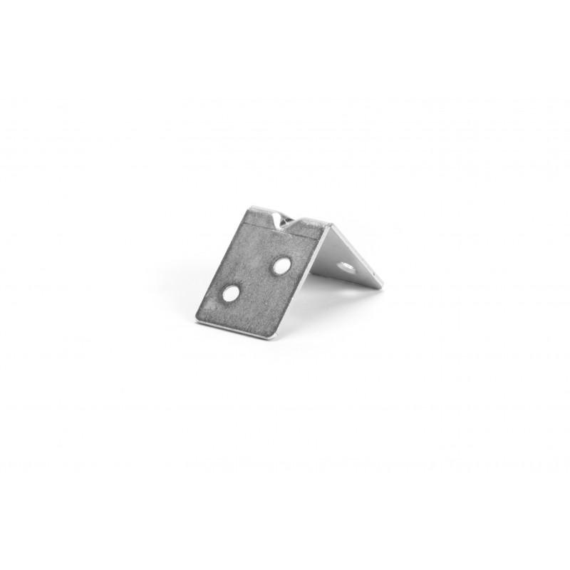 Angle 33x33x24x1,5 mm, galvanized, white
