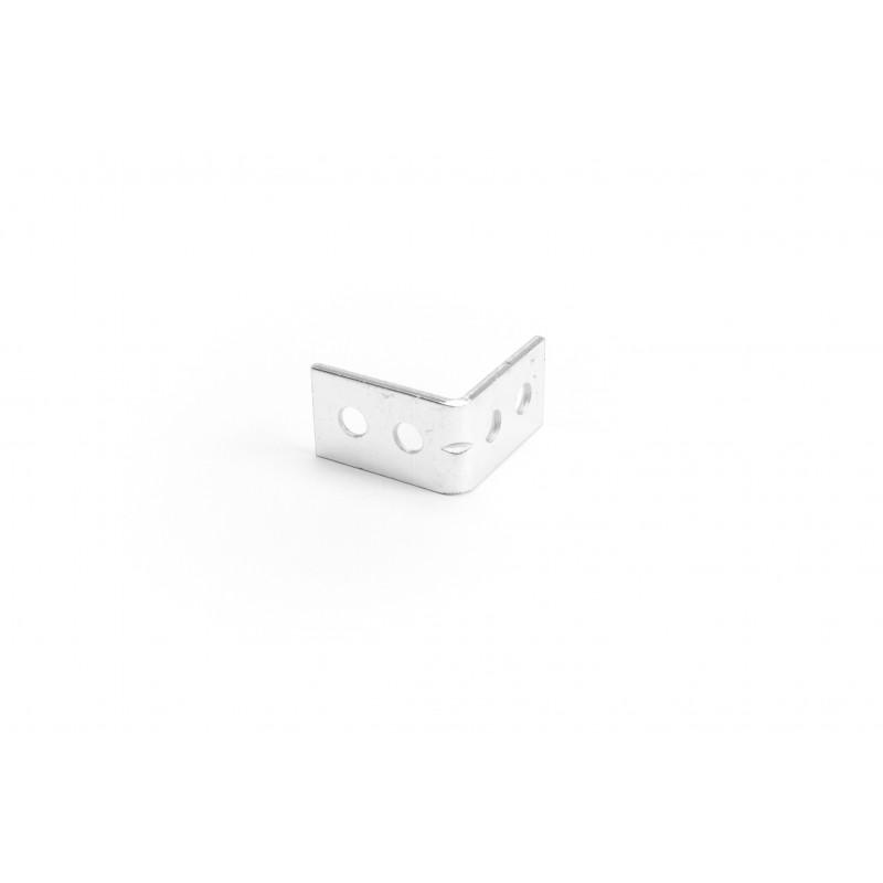 Angle 15x25x25x1,8 mm, galvanized, white