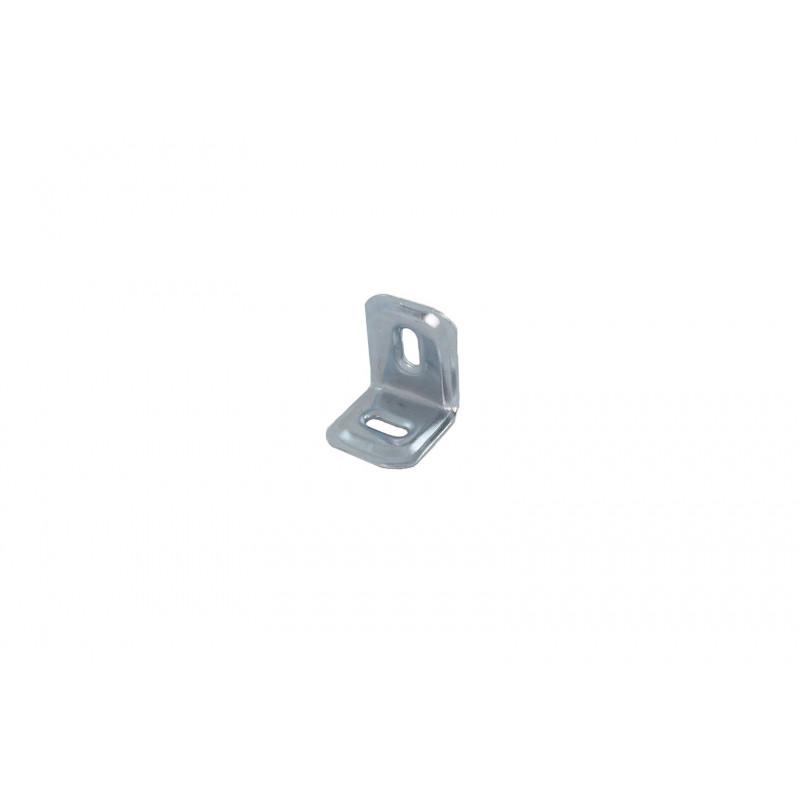 Angle 27x26x31x1,2 mm, galvanized, white