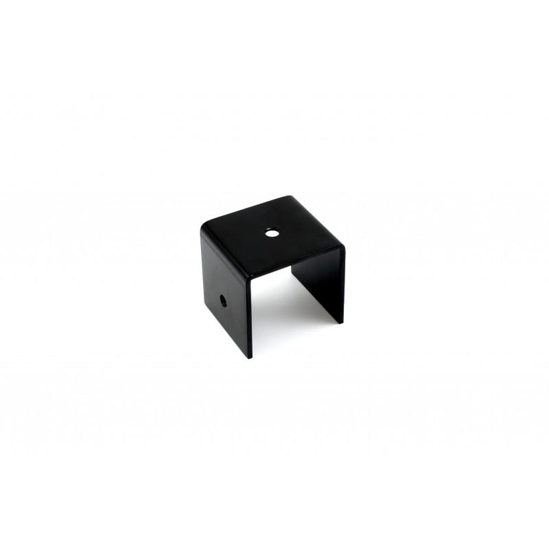 Angle 56x53x50x3 mm, painted, black U-shape