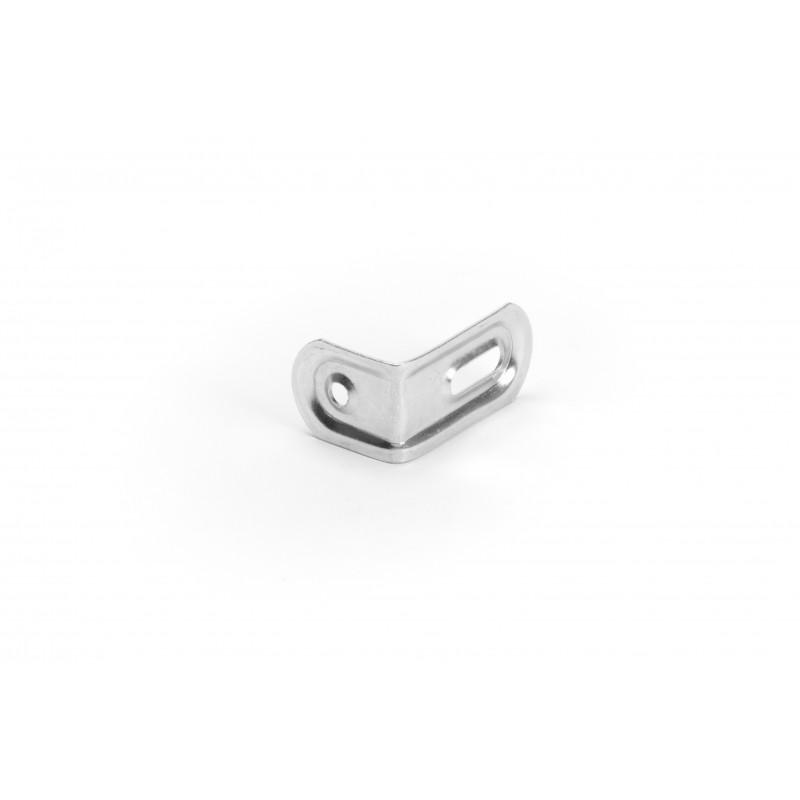 Angle 40x27x22x1,5 mm, galvanized, white
