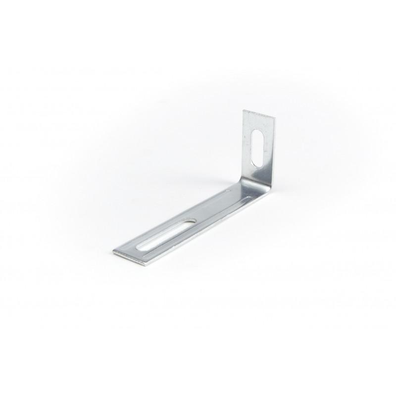 Angle 76x31x15x1,3 mm, galvanized, white