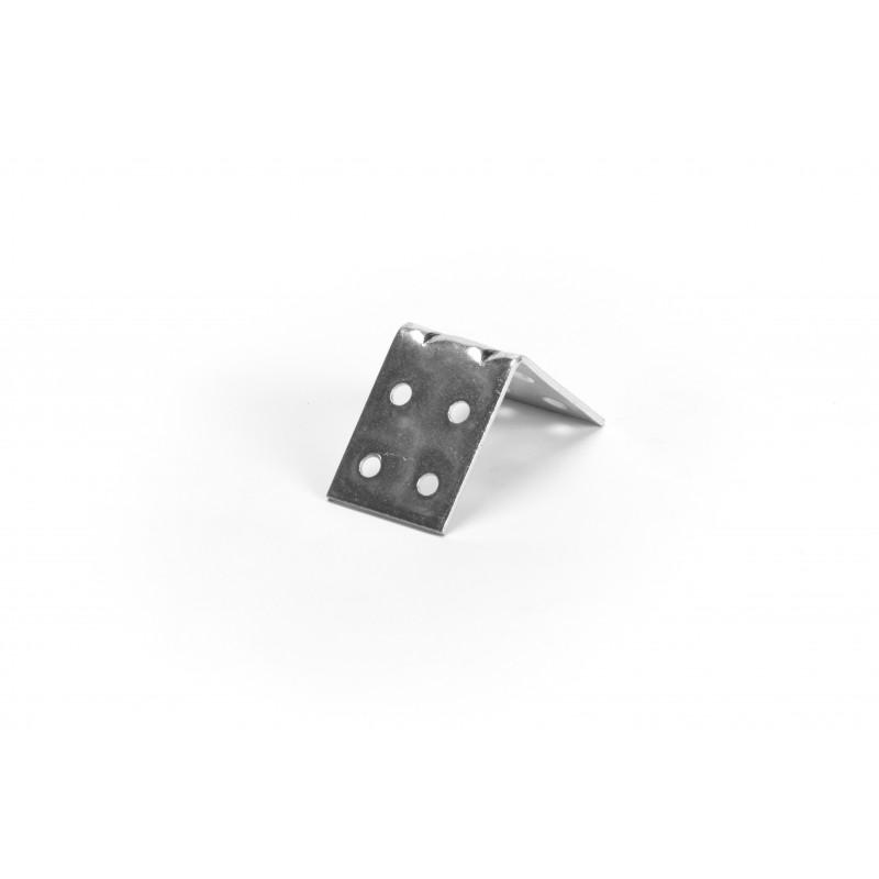 Angle 40x40x30x2 mm, galvanized, white