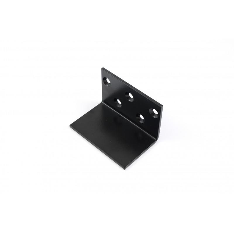 Kampas 80x52x52x3 mm, dažytas, juodas, 5 skylės