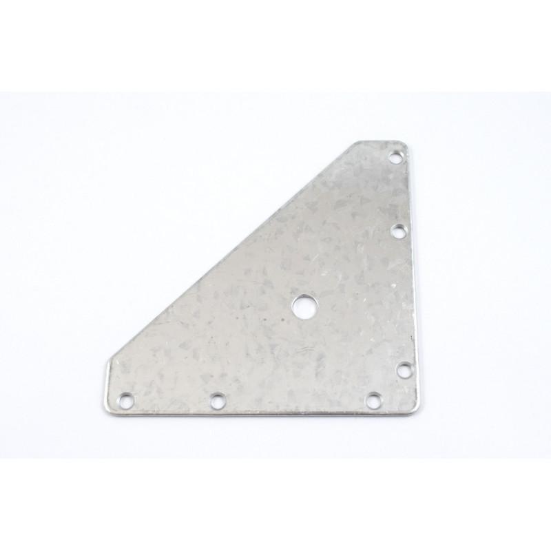 Plate 110x110x151x2 mm, pre-galvanized, white