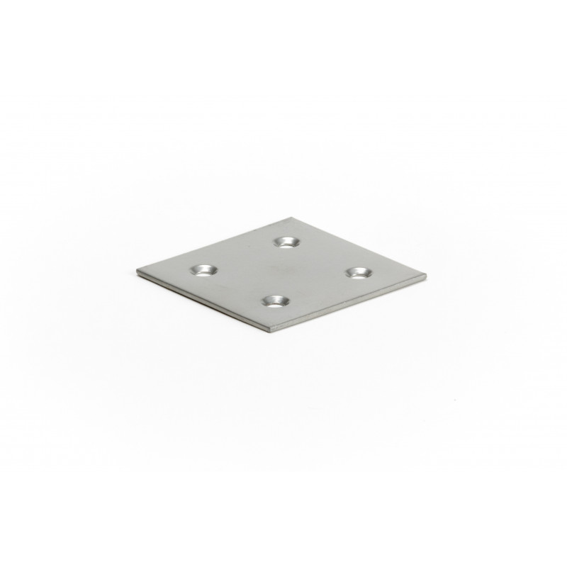 Plate 60x60x2 mm, painted, grey RAL9006