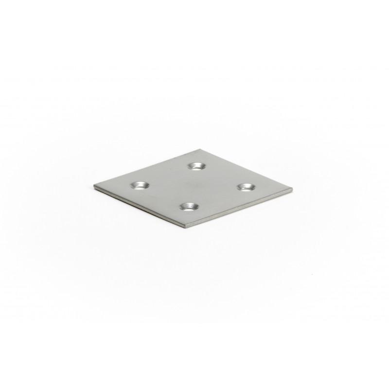 Plokštelė 60x60x2 mm, dažyta, pilka RAL9006