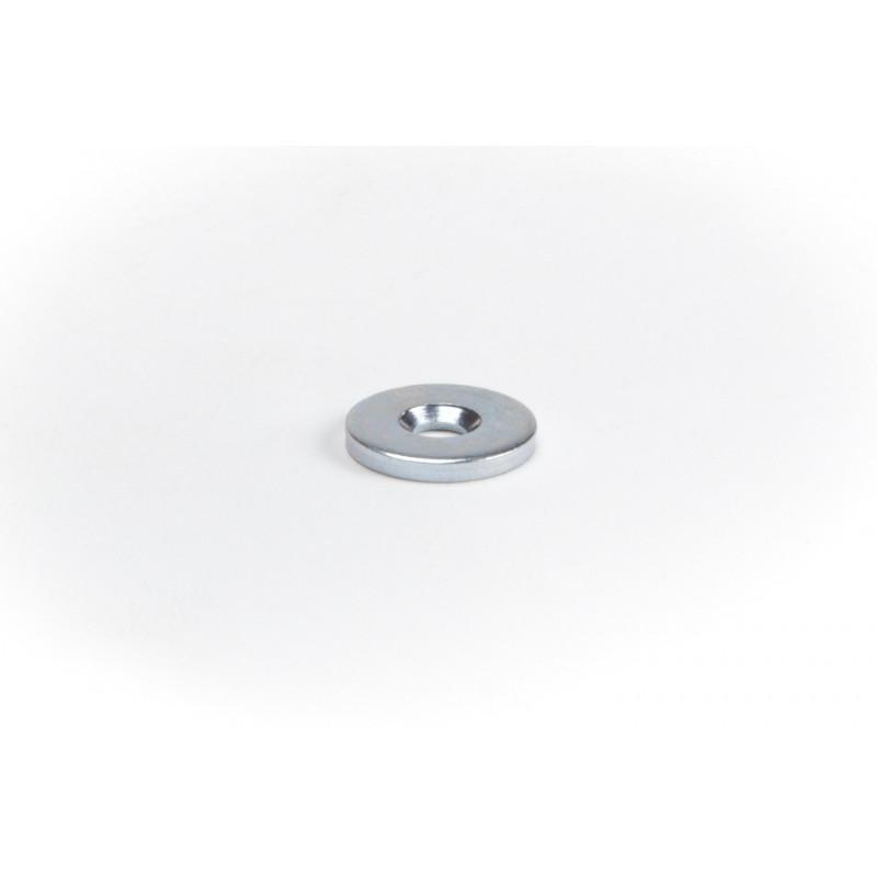 Plokštelė Ø15x2 mm, cinkuota, balta durų atmetėjui