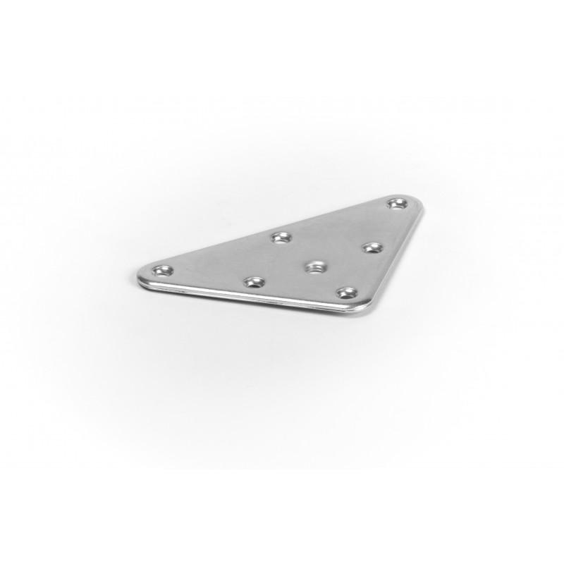 Plate 90x90x1,5 mm, galvanized, white with thread M8