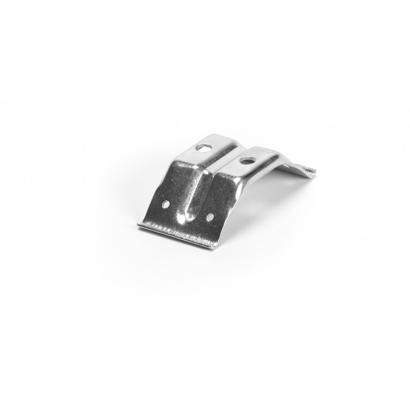 Stalo kampas 100x55x2, cinkuotas, baltas sustiprintas